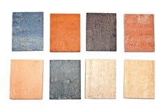 Colorful granite texture samples Stock Images