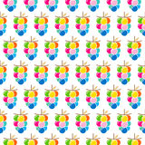 Colorful grapes bunch pattern Stock Photography
