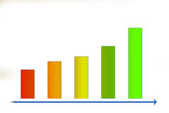 Colorful graph Royalty Free Stock Photography
