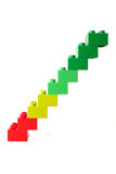 Colorful graph Royalty Free Stock Photos