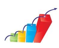 Colorful Graph Stock Photo