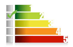 Colorful graph illustration and checkmark Stock Images