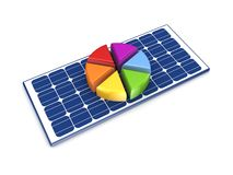 Colorful graph on solar battery. Stock Photography
