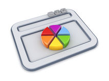 Colorful graph and stylized OS-bar, Royalty Free Stock Photo