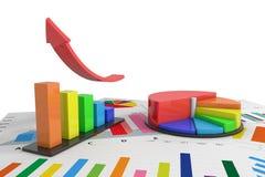 Colorful graph Stock Photos