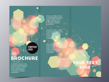 Colorful graphic element style brochure template Stock Photos