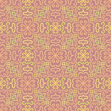 Colorful graphic flower pattern on pink background Royalty Free Stock Photography
