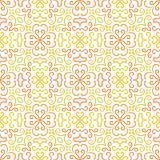 Colorful graphic flower pattern on white Royalty Free Stock Images