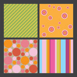 4_colorful_graphic_patterns Stock Photo