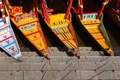 Shikara boat at Dal lake ,Kashmir ,India Royalty Free Stock Photography