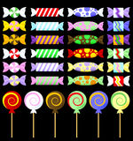 Colorful Graphic Wrapped Candy Vectors Stock Photo