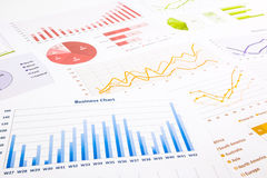 Free Colorful Graphs, Charts, Marketing Research And Business Annual Stock Image - 42818821