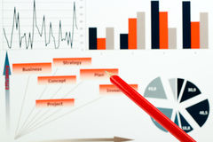 Colorful graphs, charts, marketing research and business annual report background, management project, budget planning, financial Royalty Free Stock Photography