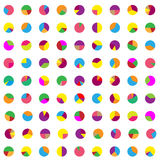 Colorful graphs wallpaper. Cake graphs Royalty Free Stock Photo