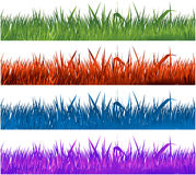 Colorful grass collection Stock Photography