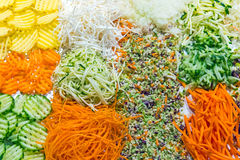 Colorful grated salad at a buffet Royalty Free Stock Photography