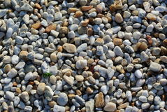 Colorful gravel pattern. Pea gravel from various source rock makes an attractive pattern stock photography