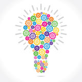 Colorful Grear make bulb Royalty Free Stock Photography