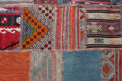 Colorful greek carpet handcrafted Stock Image