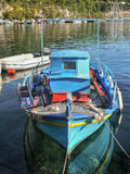 Colorful Greek Fishing Boat Royalty Free Stock Photo