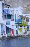 Colorful Greek homes  Stock Photos