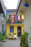 Colorful Greek house Royalty Free Stock Photo