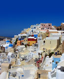 Colorful Greek village. Of Oia, Santorini, Greece Royalty Free Stock Photos