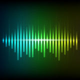 Colorful green-blue digital shining equalizer Royalty Free Stock Photo