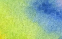 Colorful green and blue watercolor background. Abstract texture royalty free illustration