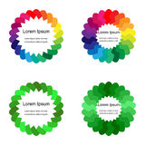 Colorful and Green Circles. Templates for Labels, Fliers, Banners, Badges, Posters, Stickers. Vector Illustration.Colorful and Green Circles. Templates for vector illustration