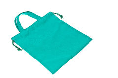 Colorful green cotton bag Royalty Free Stock Images
