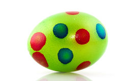 Colorful green easter egg Royalty Free Stock Photo