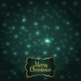 Colorful Green Glowing Christmas Lights. Royalty Free Stock Images