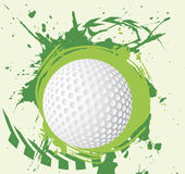 Colorful green golf splash with arrows.Abstract golf background. Vector illustration Stock Image