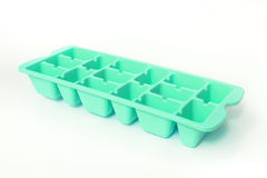 Colorful green ice tray. Stock Image