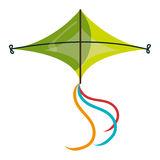 Colorful green kite Flying. Royalty Free Stock Photos