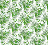 Colorful green leaves on white seamless background Stock Photography