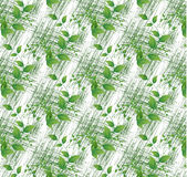 Colorful green leaves on white seamless background Royalty Free Stock Photos