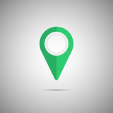 Colorful green map pointer icon. Vector element Royalty Free Stock Photos