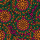 Colorful Green Pink Yellow Seamless Pattern Stock Images