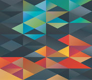 Colorful triangles ornament Royalty Free Stock Image