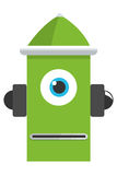 colorful green robot icon Stock Images