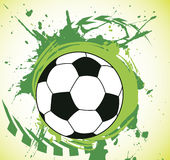 Colorful green splash and ball.Abstract football background. Vector illustration Royalty Free Stock Image