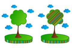 Colorful green trees Royalty Free Stock Image