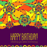 Colorful greeting card Happy Birthday Royalty Free Stock Photography