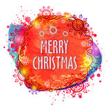 Colorful greeting card for Merry Christmas. Royalty Free Stock Image