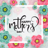 Colorful greeting card with  mother`s day, vector illustration Stock Image