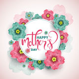 Colorful greeting card with  mother`s day, vector illustration Royalty Free Stock Image