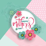Colorful greeting card, vector illustration Stock Image