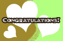 Colorful greeting card with word congratulations Royalty Free Stock Photos